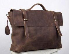 Brown Handmade cow leather tote/mans bag/shoulder bag/briefcase /messenger bag/leather bag/handmade bag/
