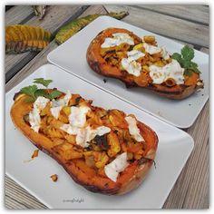 """Recetas Verofortyfit     """"Healthy and Delicious Food"""": CALABAZA ASADA, RELLENA DE PASTA AL WOK VEGETARIAN... Pasta Al Wok, Relleno, Bruschetta, Baked Potato, Potatoes, Yummy Food, Baking, Healthy, Ethnic Recipes"""