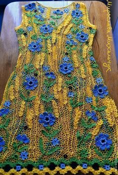 Irish Crochet, Crochet Clothes, Crochet Flowers, Needlework, Cross Stitch, Knitting, Dresses, Fashion, Crochet Blouse
