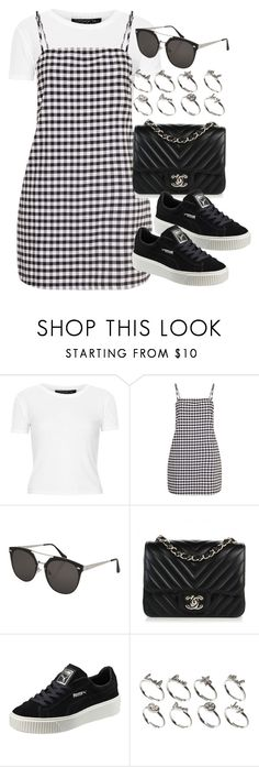 """Sin título #12654"" by vany-alvarado ❤ liked on Polyvore featuring Topshop, Chanel, Puma and ASOS"