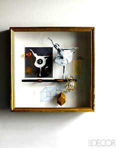 In seltener Form - Luxus-Heimhardware In Rare Form - Luxury Home Hardware Coole Shadowbox / Artwork-Inspiration: Joseph Cornell Recreations - Luxus-Heimhardware - ELLE DECOR. Collages, 3d Collage, Mix Media, Mixed Media Art, Joseph Cornell Boxes, Joseph Cornell Artwork, Mystical World, Assemblage Art, Box Art