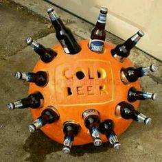 A clever beer coozie!