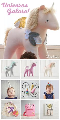 Glimpsing a unicorn in the wild is tough. But, thanks to The Land of Nod, finding the perfect gift for any fairytale-loving kid on your list will be a cinch. Unicorn Birthday Parties, Girl Birthday, Birthday Ideas, Unicorn Kids, Rainbow Unicorn, Little Girls, Little Ones, Softies, Sewing Projects
