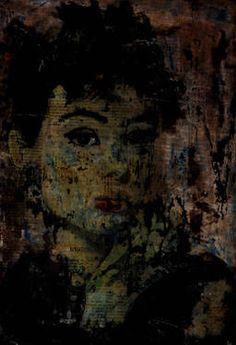 "Saatchi Art Artist CARMEN LUNA; Collage, ""71-Expressions of Carmen Luna. Audrey Hepburn"" #art http://www.saatchiart.com/art-collection/Painting-Mixed-Media/Expressions-of-Carmen-Luna/71968/25377/view"