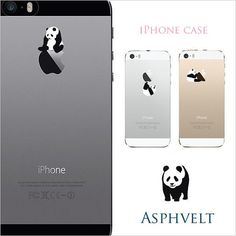 iPhone SE iPhone 6s Plus Panda Clear Plastic Case by ASPHVELT