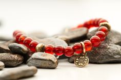 Carnelian what else is there to say. just amazing color and texture This bracelet is available in 22 beads or 17 beads with bronze findings Just Amazing, Carnelian, Beaded Bracelets, Bronze, Texture, Beads, Leather, Color, Jewelry