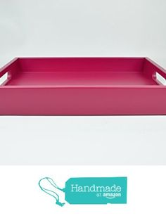 Decorative Tray Raspberry Pink Lacquer Serving Tray with Handles 18 in. by 14 in. from Gleaming Renditions http://www.amazon.com/dp/B016FTPS7Y/ref=hnd_sw_r_pi_dp_K212wb0QDM6XR #handmadeatamazon