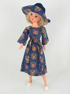 Latest Fashion Gorgeous Brunette Bright 1977 Royal Occasion Sindy Doll In Original Dress & Hat Htf