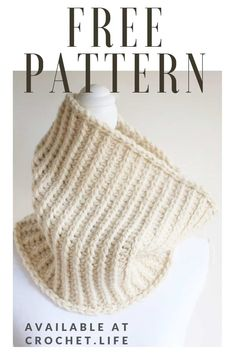 Wonderful Free of Charge Crochet cowl neck warmer Concepts North Ridge Cowl Neck Warmer Pattern Diy Crochet Projects, Diy Crochet Patterns, Crochet Cowl Free Pattern, Free Crochet, Knit Crochet, Cowl Patterns, Crocheting Patterns, Crochet Stitches, Crochet Ideas