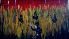 acrylic painting scifi doomsday