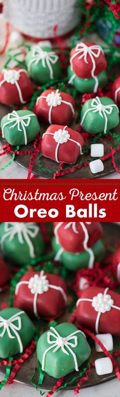 Your family will want to make these Christmas present oreo balls each season! A little spin on classic oreo balls transforms these into one of the best no bake holiday treats!