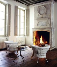 Elegant Fireplace in Period Home