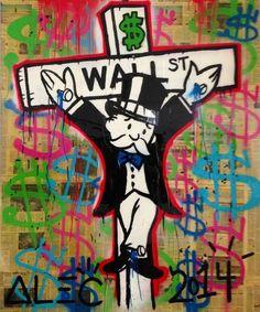 Alec Monopoly, Crucified Multicolor. Courtesy of Avant Gallery.