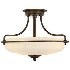 """Griffin Collection Palladian Bronze 17"""" Wide Ceiling Light $190 entry light"""