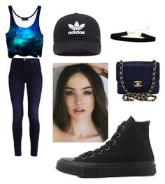 Untitled #19 by arianalt on Polyvore featuring polyvore fashion style Converse Chanel adidas Originals clothing