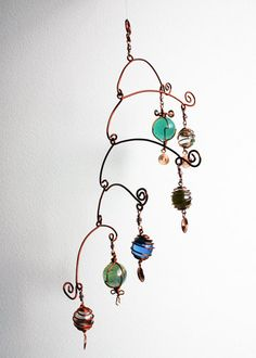 Mobile Stairs Mix, hanging mobile - wire art. €40,00, via Etsy.