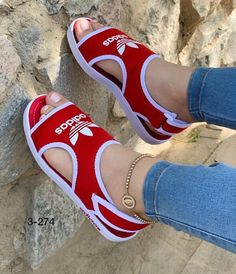 New Nike Womens Sandals for Sale in Houston, TX - OfferUp Nike Sandals, Shoes Heels Wedges, Red Adidas Shoes, Nike Air Shoes, Sneakers Fashion Outfits, Fashion Shoes, Cute Shoes, Me Too Shoes, Sandals