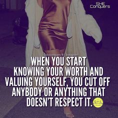Know your worth and cut anyone off that doesn't respect it ✂✂✂
