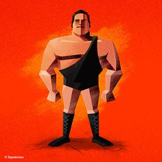 André the Giant. #WWE Superstar #Illustrations