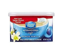 Maxwell House International Decaf Sugar Free French Vanilla Café, 4 oz Cans (Pack of Maxwell House International Café French Vanilla Sugar Free Low Calorie Decaffeinated Non Dairy Coffee Creamer, Vanilla Coffee Creamer, Vanilla Sugar, French Vanilla, Free In French, Instant Coffee, Coffee Drinks, Drinking Tea, Gourmet Recipes