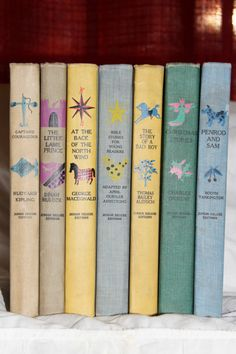 Spines stamped in two colors, Junior Deluxe Editions, 1950s