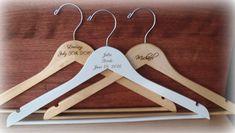 Wood Hanger Bride Bridal Hanger Groom Groomsmen Set of four