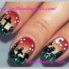 Cute graveyard nails