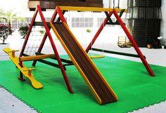 Resultado de imagem para como fazer escorrega infantil sem madeiras