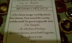Wine & Cheese...yes please!