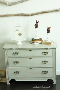 aging furniture with glazes