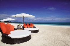 The beach at Gansevoort Resort in Turks & Caicos