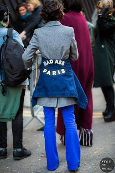 Violaine Bernard before Peter Pilotto fashion show. London Fashion Week FW 2015