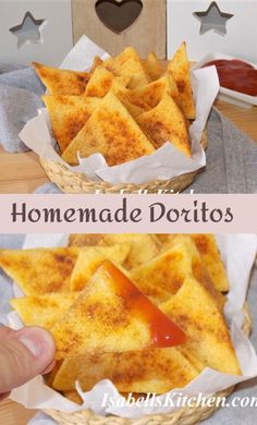 Homemade Doritos from scratch. Homemade Nacho chips - isabell's kitchen