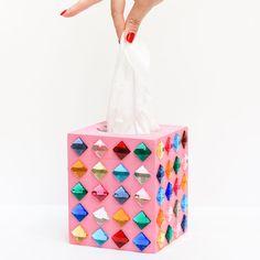 Rhinestone Tissue Box | Craft Gawker | Bloglovin'