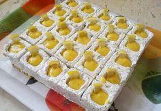 Mákos joghurtkocka citromöntettel | NOSALTY Slovak Recipes, Waffles, Tray, Pudding, Sweets, Breakfast, Food, Minden, Essen