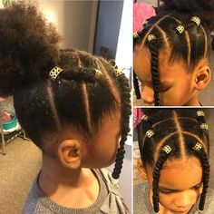 Black Little Girl Hairstyles, Black Toddler Hairstyles, Teen Girl Hairstyles, Natural Hairstyles For Kids, Back To School Hairstyles, Kids Braided Hairstyles, Crown Hairstyles, Kids Hairstyle, Hairstyle Ideas