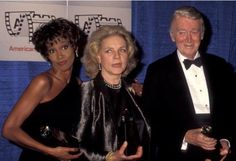 With Lauren Bacall and Jimmy Stewart ~ 1991