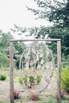 Dream Catcher Guestbook | Bohemian Camping Wedding | From SF With Love Photography | Bridal Musings Wedding Blog 21