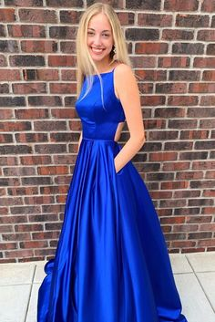 New Style Prom Dress Long Prom Dresses Evening Dress Dance Dress Graduation School Party Gown Prom Dresses With Pockets, Prom Dresses For Teens, Grad Dresses, Prom Dresses Online, Formal Evening Dresses, Pageant Dresses, Dance Dresses, Dress Prom, Dress Formal