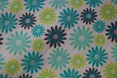 Stenzo15 7005-10 Cotton poplin bloemen mint/lime/blauw