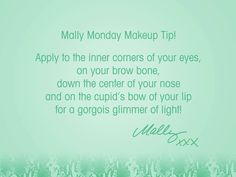 Get a little glimmer of light w/ my Lightwand Eye Brightener! #MallyMonday
