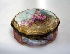 A French Sevres style 19th century jewel casket, signed E. Gille