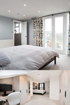 Opt for using several smaller lamps and spotlights to spread light over your loft conversion, like these builds made possible with Simply Loft. Loft Conversion Tips, Loft Room, Spotlights, Beautiful Family, Lamps, Home And Family, Bed, Building, Furniture