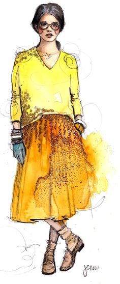 J. Crew by @PAPERFASHION. this is one of my favorites by #katierodgers. it's the skirt!
