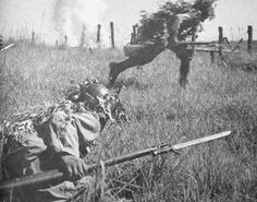 Japanese infantry attacking Soviet positions during battle of Nomonhan, May 1939