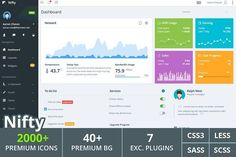 cool Nifty - Responsive Admin Template  CreativeWork247 - Fonts, Graphics, ...