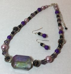 Purple passion necklace set by StopShopNBuy on Etsy