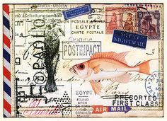 ♥♥ ✉ Fine examples of altered mail at Colorful Adventures blog spot. ✉ Snail mail art at its best.
