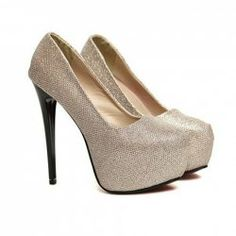 $14.08 Wedding Stylish Women's Spring Pumps With Solid Color and Sparkling Glitter Design