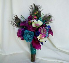 peacock boquet | Peacock Bouquet wedding | misc stuff